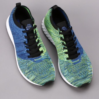 Kappa Textured Lace-Up Running Shoes