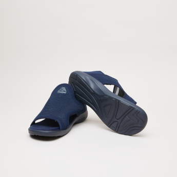 Kappa Textured Slip-On Sandals