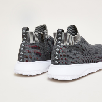Kappa Textured Walking Shoes with Zip Closure