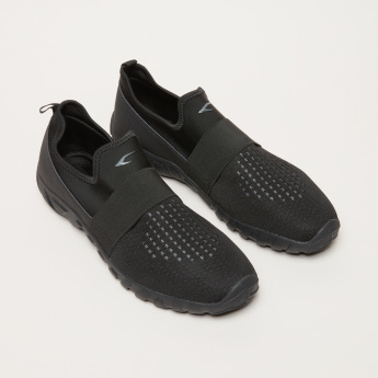 Textured Slip-On Shoes with Elasticised Vamp Band