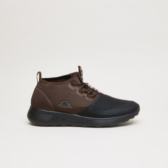 Kappa High Top Shoes with Textured Toe Cap