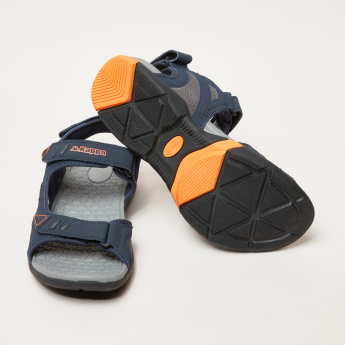 Kappa Textured Sandals with Hook and Loop Closure
