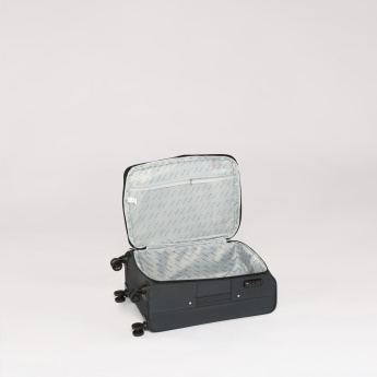 Duchini Textured Soft Case Trolley Bag with Lock and Zip Closure