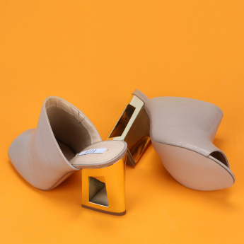 Elle High Heel Slides