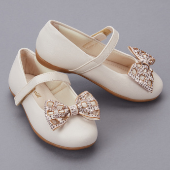 Pampili Embellished Bow Detail Mary Jane Shoes
