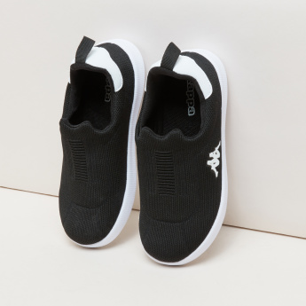 Kappa Slip-On Sneakers with Logo Applique