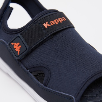 Kappa Floaters with Hook and Loop Closure and Logo Accent