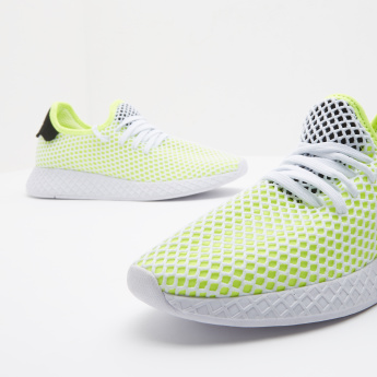 Kappa Mesh Panelled Running Shoes with Lace-Up Closure