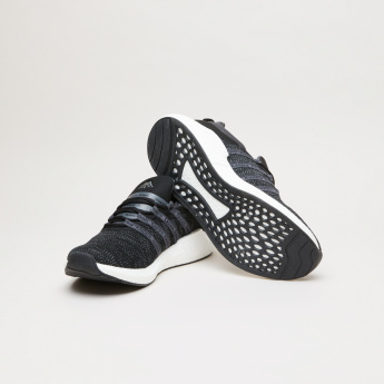 Kappa Tape Detail Lace-Up Walking Shoes