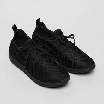 Kappa Textured Walking Shoes with Lace Closure