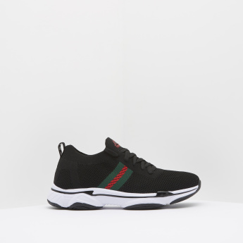 Kappa Mesh Textured Running Shoes with Lace-Up Closure