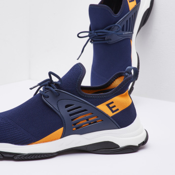 ELLE Textured Lace Up Sports Shoes
