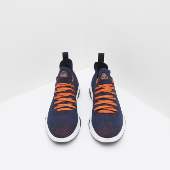 Kappa Textured Low Ankle Lace-Up Sneakers