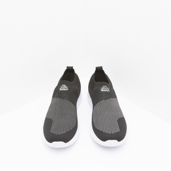 Kappa Walking Slip-On Shoes with Ribbed Collar and Pull Tab