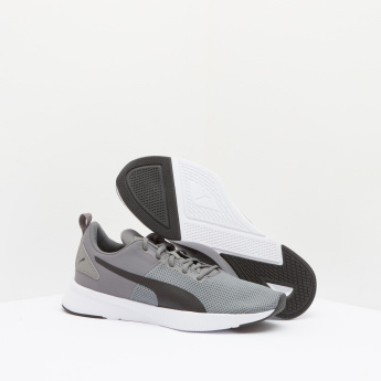 PUMA Textured Mesh Sneakers with Lace-Up Closure