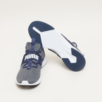 Puma Lace-Up Walking Shoes with Vamp Band