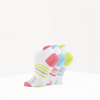 KangaROOS Striped Ankle Length Socks - Set of 3