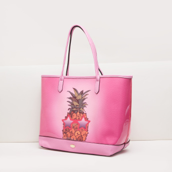 Missy Printed Tote Bag with Zip Closure