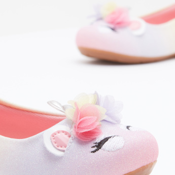 Pampili Slip-On Ballerina with Embellishment