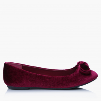 Missy Slip-On Shoes with Bow Detail