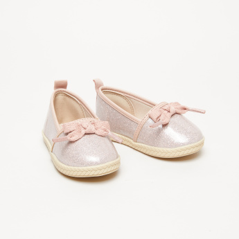 Molekinha Bebe Glitter Slip-On Shoes