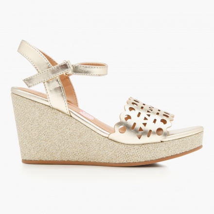 Elle Laser Cut Wedge Sandals