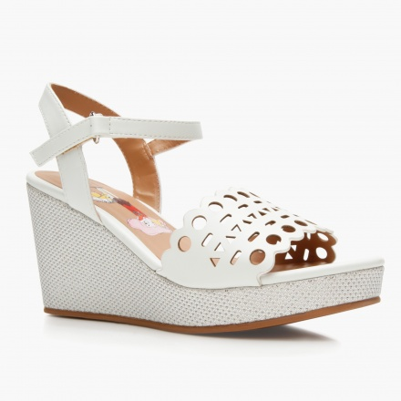 adf9f56fca8c Elle Laser Cut Wedge Sandals