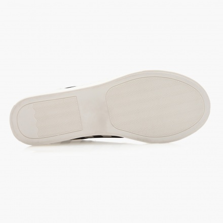 Missy Striped Slip-On Canvas Shoes
