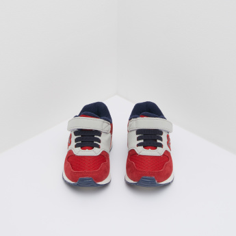 KLIN Embroidered Sneakers with Hook and Loop Closure
