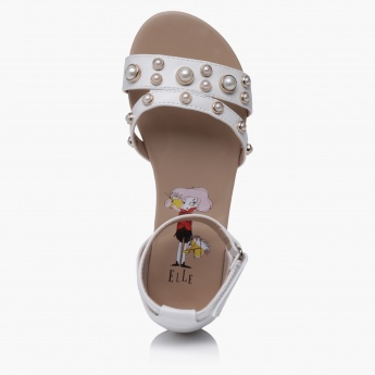 Elle Slip-On Sandals with Hook and Loop
