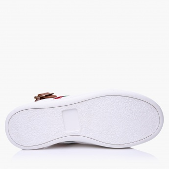 Lee Cooper Embroidered Shoes with Buckle Closure