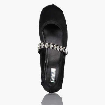 Celeste Embellished Shoes with Hook and Loop Closure