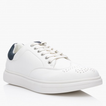 Lee Cooper Textured Lace Up Sneakers