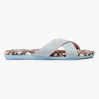 Missy Floral Print Slippers