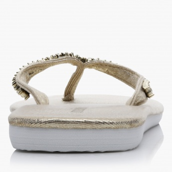 Missy Embellished Thong Slippers