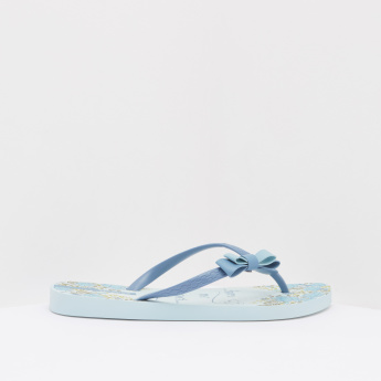 Ipanema Printed Flip Flops with Bow Accent