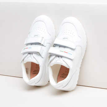 Pablosky Textured Sneakers with Hook and Loop Closure