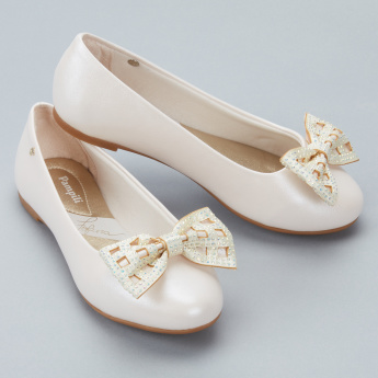 Pampili Embellished Bow Detail Slip-On Shoes