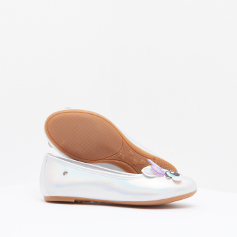 Pampili Slip-On Ballerina Shoes with Applique Detail