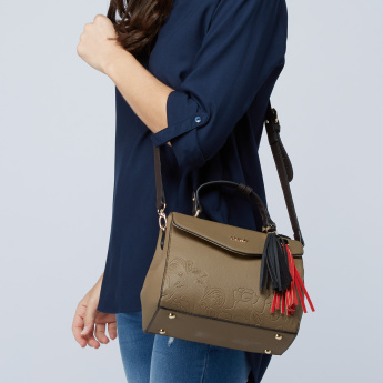 Celeste Textured Cross Body Bag with Flap and Adjustable Strap