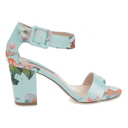 Paprika Printed Block Heel Sandals