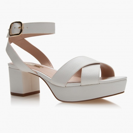 Paprika Block-Heel Sandals