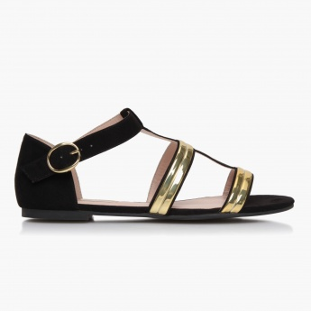 Paprika Flat Sandals with Straps