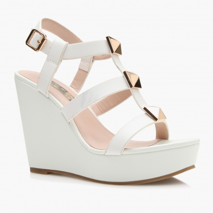 Paprika T Bar Wedge Sandals