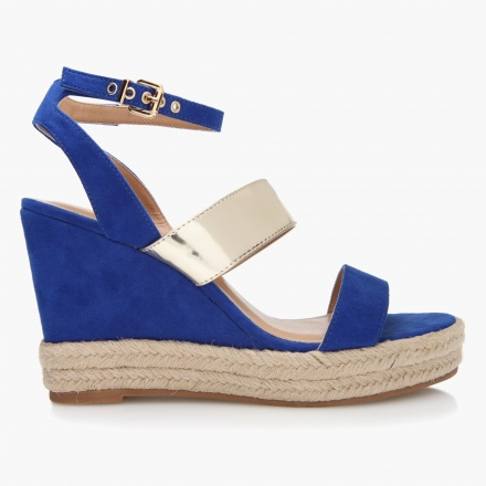 Missy Buckled Wedge Sandals