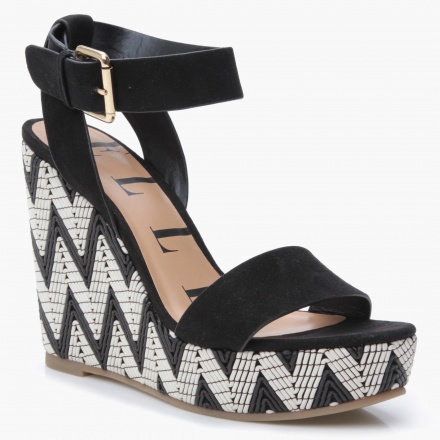 Elle Aztec Heel Wedge Sandals