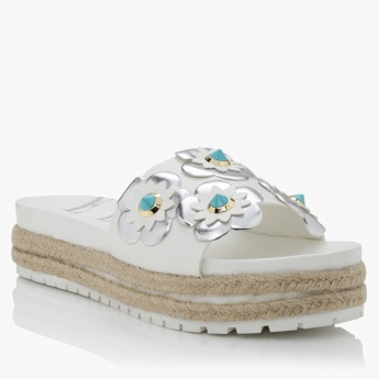 Elle Embellished Espadrille Slip-On Sandals