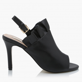 Paprika High Heel Shoes with Buckle Closure