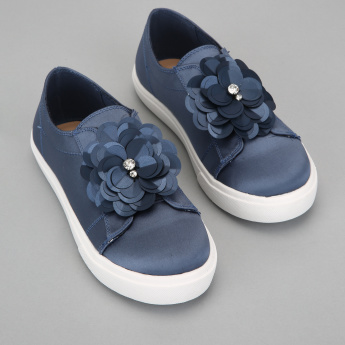 Elle Floral Detail Slip-On Shoes