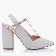 Elle Block Heel Shoes with Buckle Closure